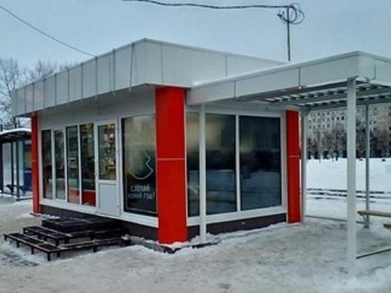 Вместо остановочного комплекса на центральной площади Архангельска возвели коммерческий ларёк