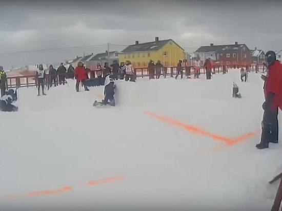 Архангелогородцы закидали всех снежками в Норвегии